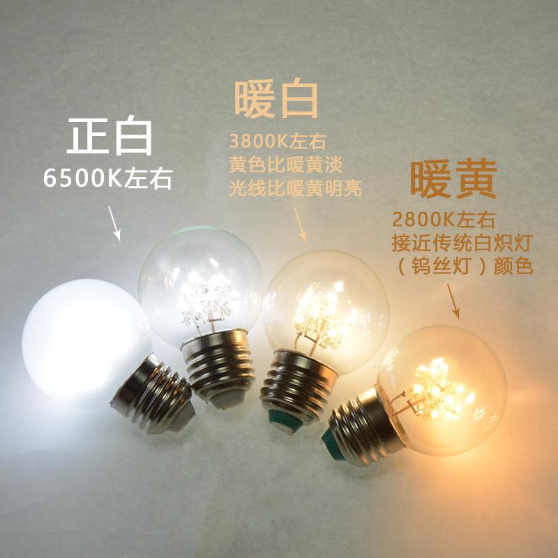 0.5W1W小夜灯暖黄光护眼LED灯泡E27螺口LED节能灯泡家用酒吧装饰