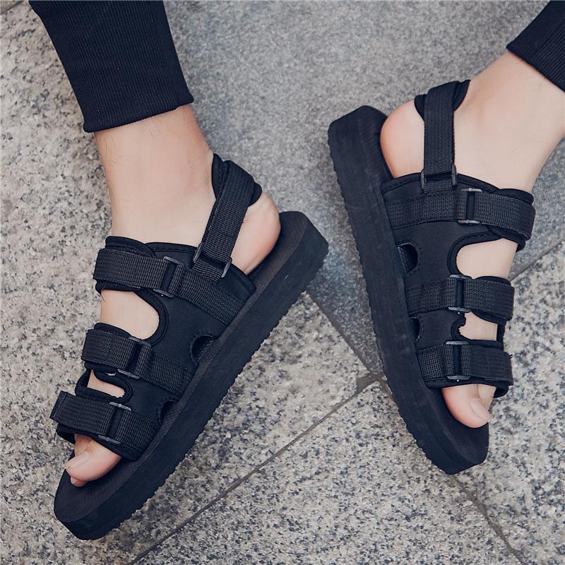 凉鞋男韩版夏季沙滩透气防滑2018新款休闲鞋学生拖鞋男士户外潮鞋