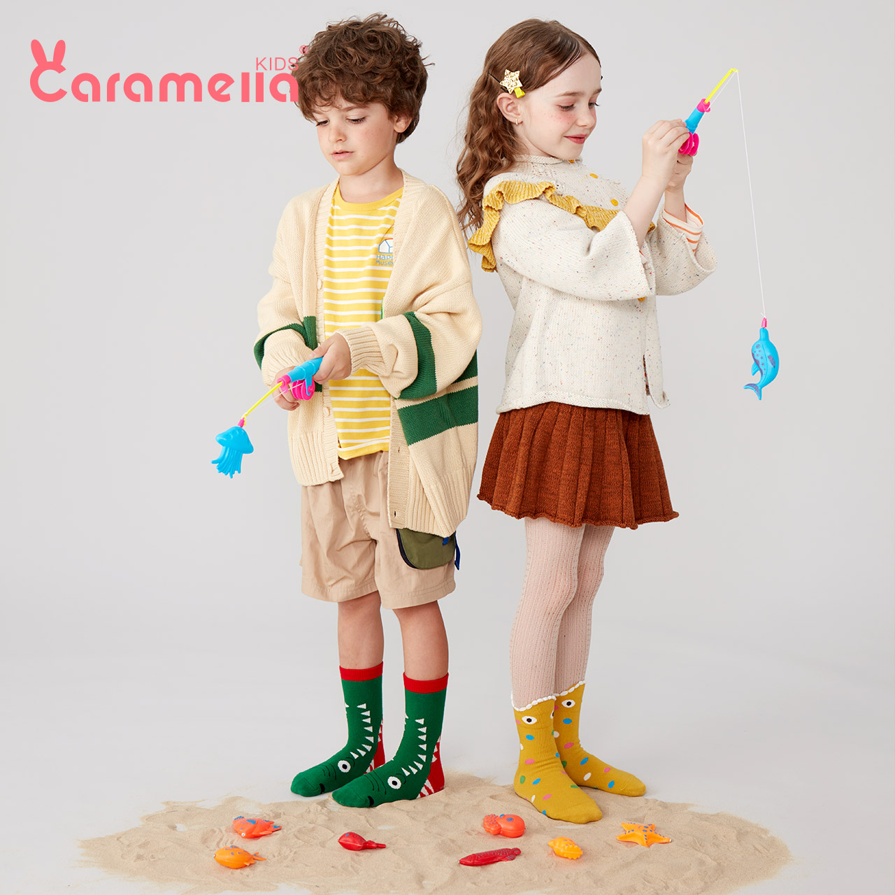 Caramela children's socks spring and autumn pure cotton socks boys and girls' socks baby socks baby socks