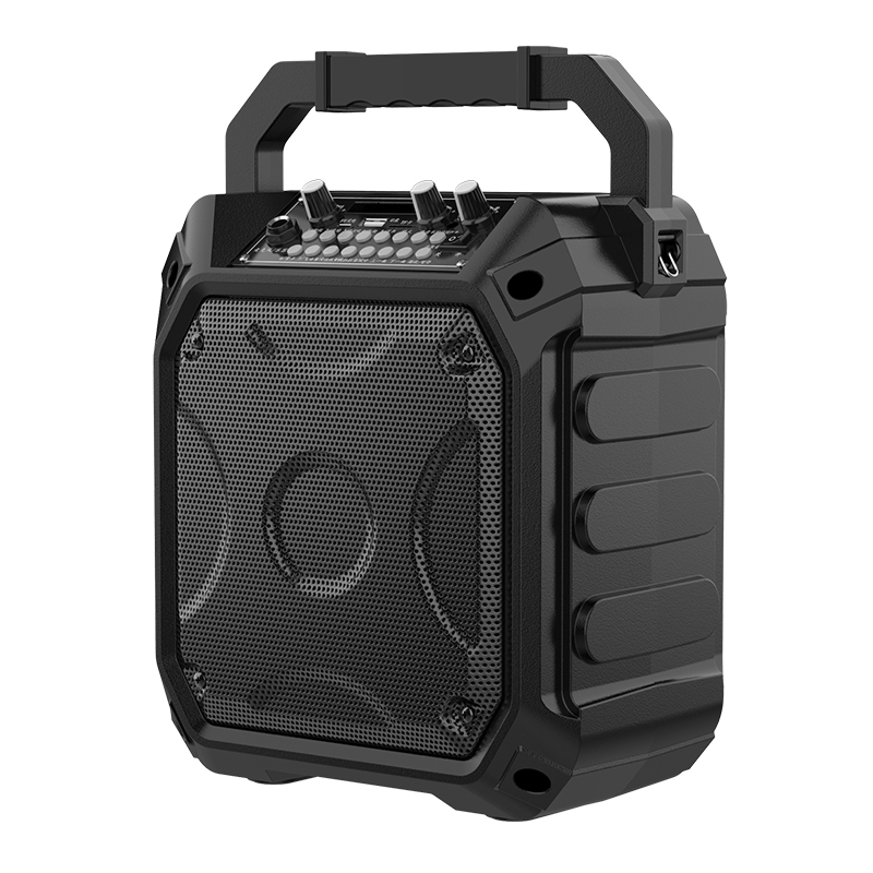 Bluetooth audio outdoor large volume square dance home portable portable speaker K song wireless microphone special small audio subwoofer shop recording booth collection guide small speaker