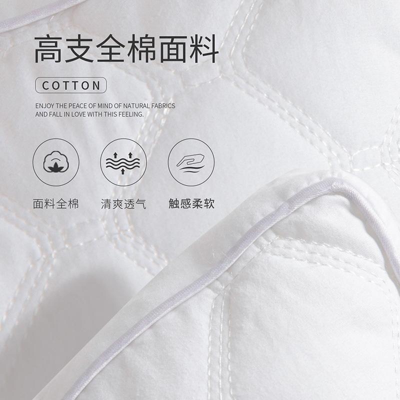 全棉枕头家用一对装单双人枕芯颈椎枕安睡学生纤维枕头芯