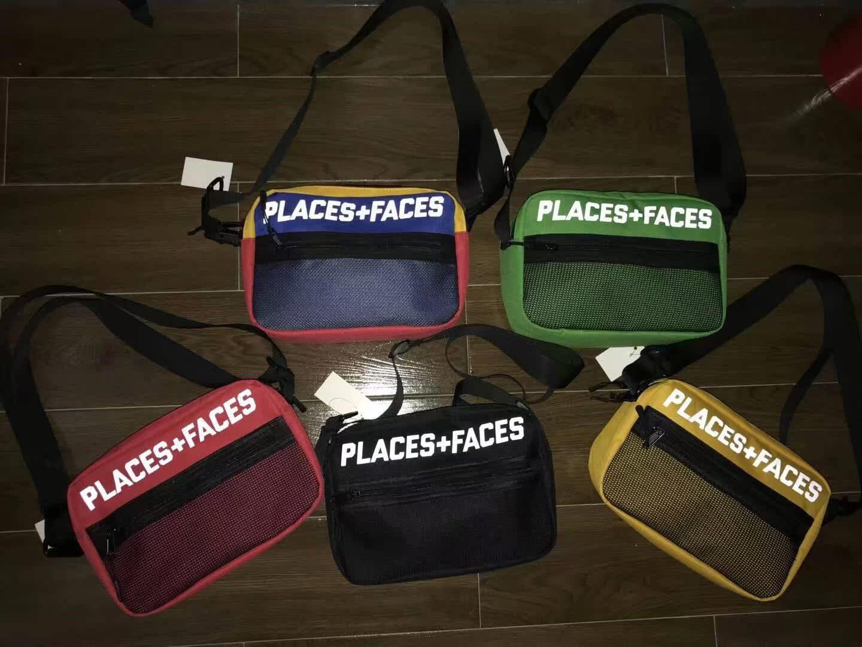 Place+Face胸包P+F腰包男女款Pce纯色拼色反光单肩斜挎包