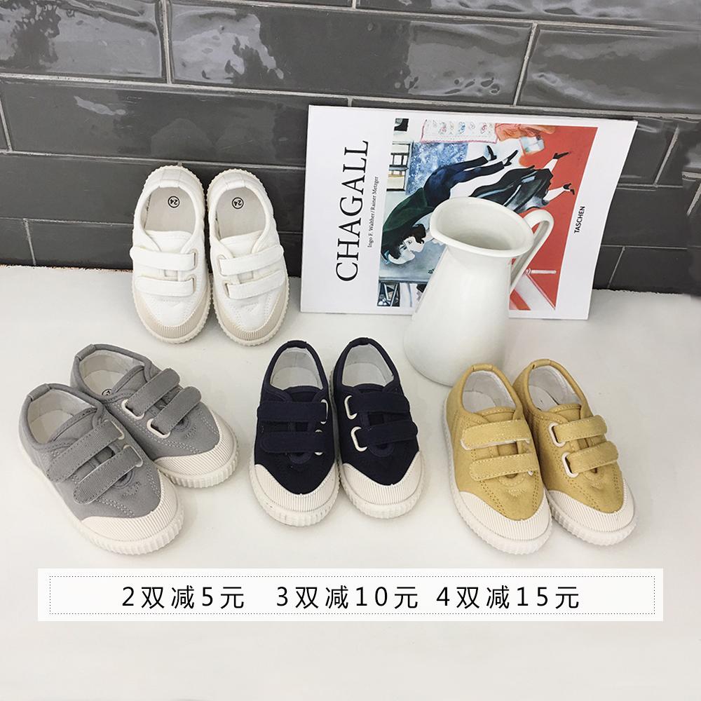 柒号童仓2018新款休闲鞋男女童板鞋帆布鞋ins儿童韩版休闲潮