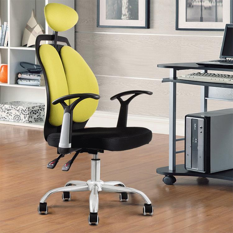 可躺電腦椅家用 職員椅老闆椅轉椅網布人體工學雙背椅 辦公椅子