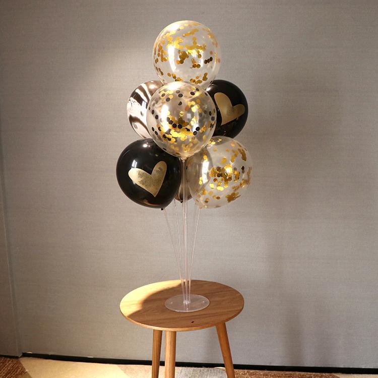 多层气球桌飘支架餐桌展示架生日布置婚礼亮片气球树婚庆婚房装饰