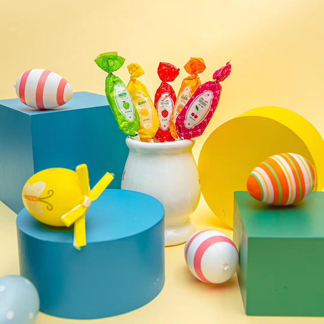 法国巴尼耶Bâtonne综合果味棒棒糖宝宝零食进口网红糖果量大特价