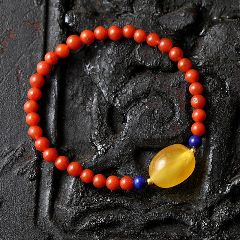 Поло из гаитянский однако желтый лисички янтарь воск оригинал камень полированный воск ожерелье браслеты браслет сделанный на заказ мужской и женщины