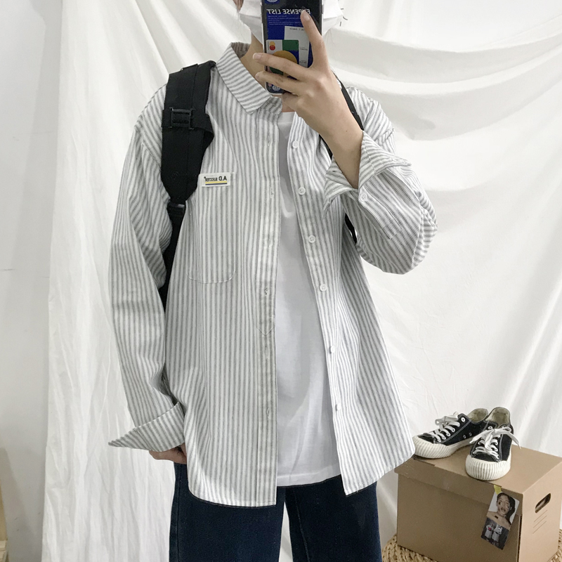 New Korean fashion casual long sleeve shirt in summer of 2019