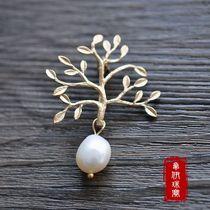 特价包邮手作宫廷复古清新文艺小树枝天然异型巴洛克珍珠胸针胸饰