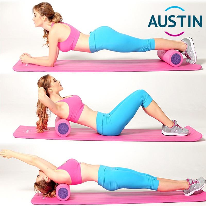 Austin泡沫軸肌肉放鬆健身按摩棒筋膜棒普拉提狼牙棒瑜伽柱滾軸筒
