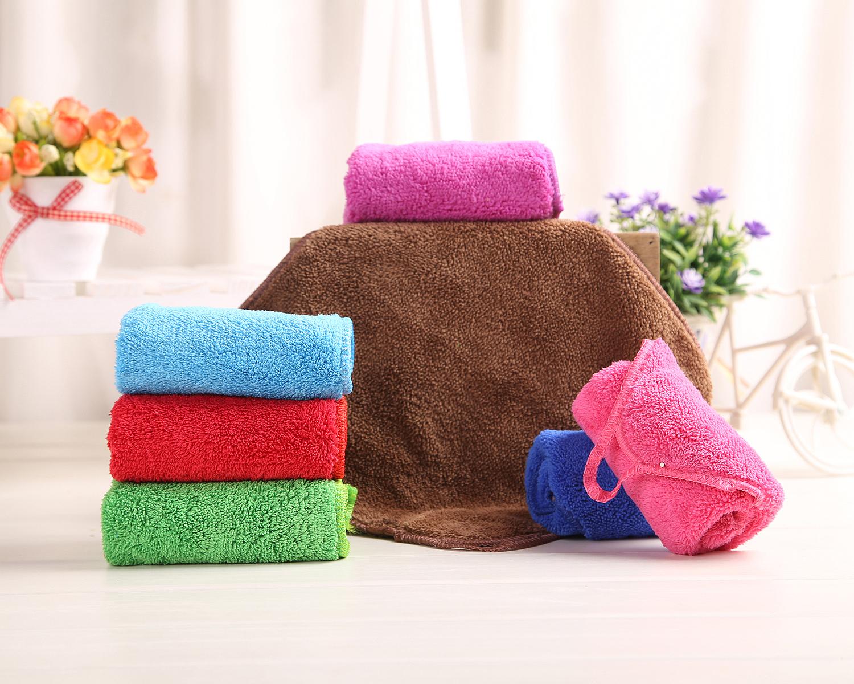 高梳纱加厚吸水小毛巾 多功能超细纤维挂钩方巾 清洁手巾 百洁布