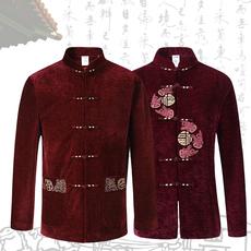 中老年高端唐装男士外套中国风中式喜庆情侣装棉衣结婚父亲装棉服