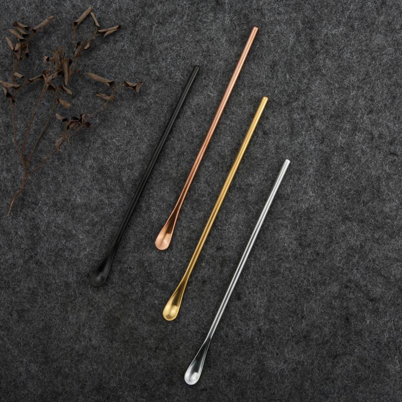 304不锈钢长勺子咖啡搅拌勺韩式哑光餐具调羹北欧ins长柄勺葡萄牙