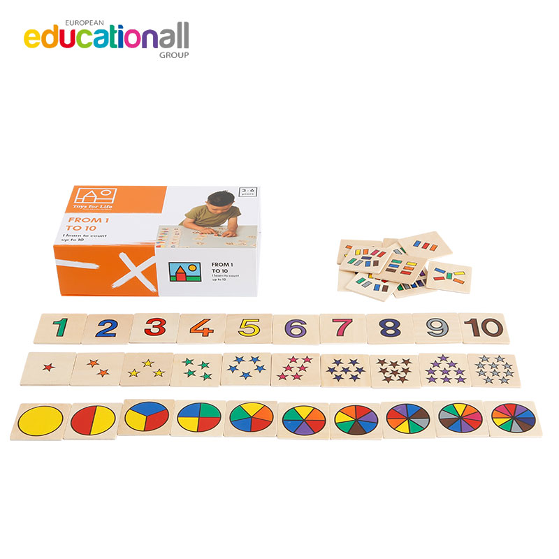 Toys for life counting graphic games 1-10 childrens early education interesting mathematics wooden teaching aids