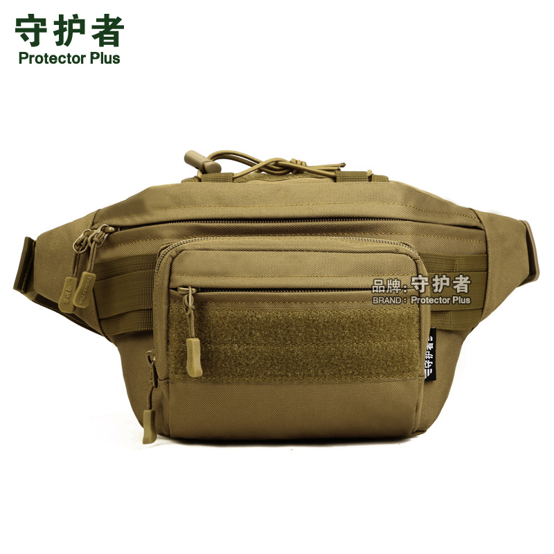 Military supplies outdoor tactical waist bag cycling travel bag mountaineering running leisure chest Bag Satchel canvas pocket