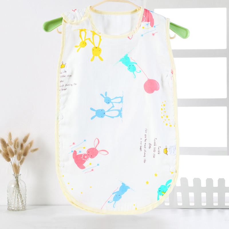 兒童睡袋夏季薄款純棉透氣背心式嬰兒寶寶護肚防踢被夏天空調房