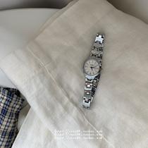 阿玛尼手表女复古时尚方盘休闲石英皮带女表EMPORIOARMANIAR1637