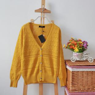 2015 Hitz женщин короткий параграф вязать джемпер блузку полые японский оригинальный сингл пальто свитера