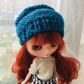 BJD娃娃专区球型关节人偶6分sd 娃blythe小布儿娃服饰手编毛线帽图片