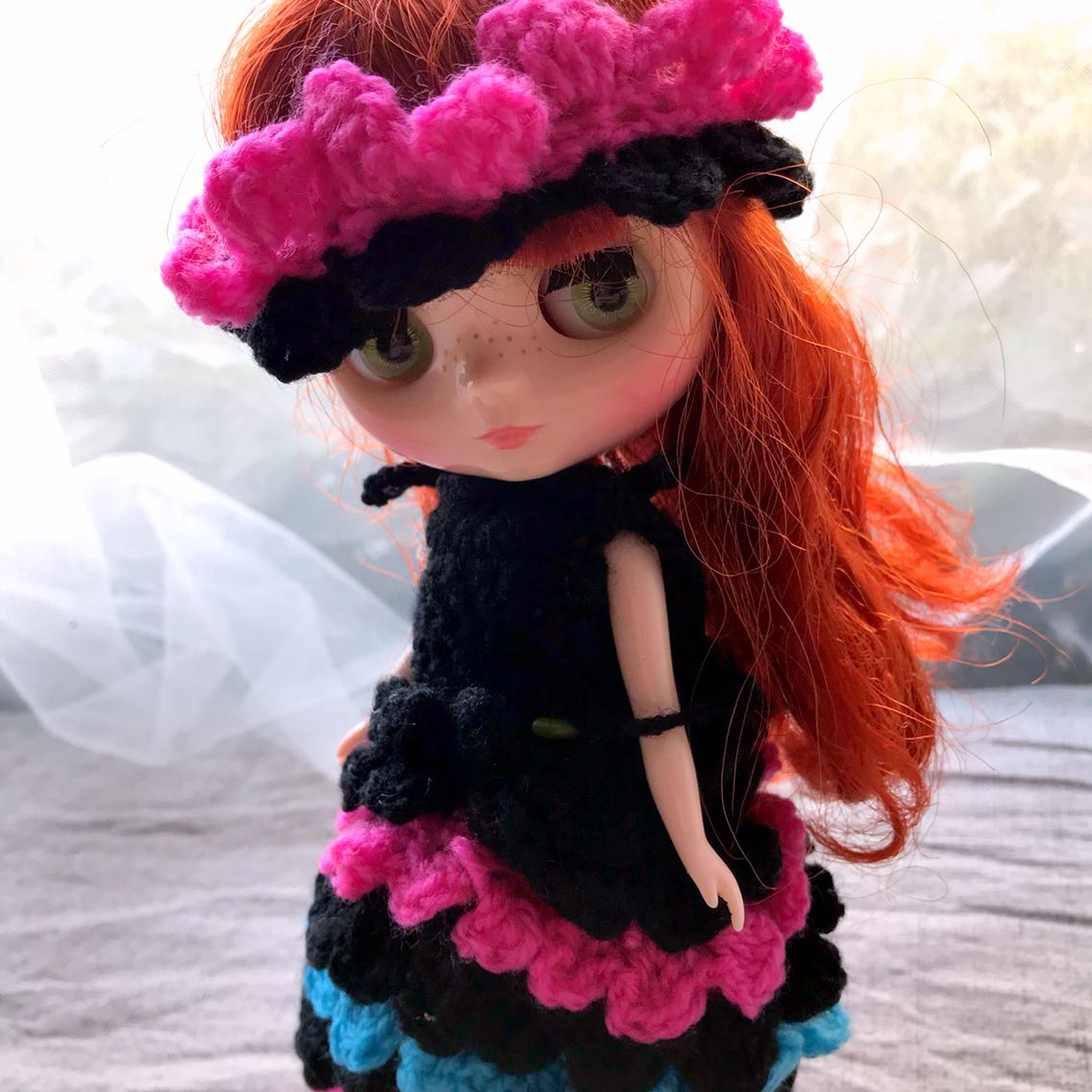 SD Ball Joint Doll bjd6 point baby Blythe small cloth doll clothing accessories hand knitted sweater Skirt Set