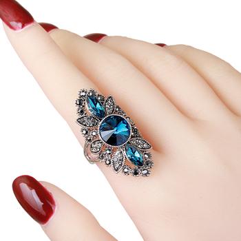 欧美大气复古女个性长款食指戒指环