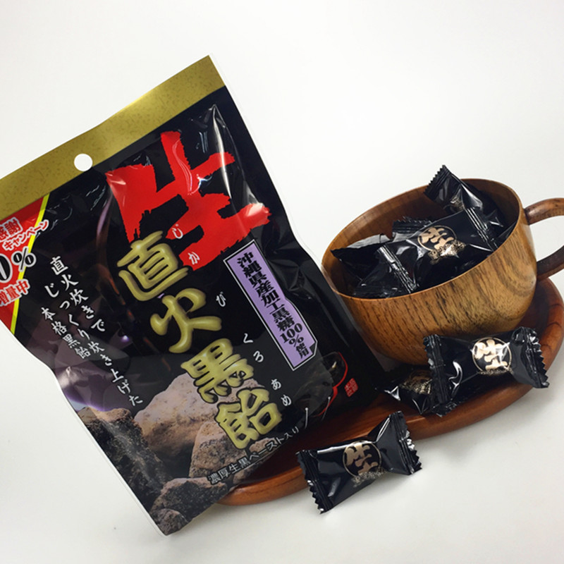 Imported candy Japanese snacks libon straight fire black sugar Okinawa made black sugar sandwich sugar brown sugar black sugar