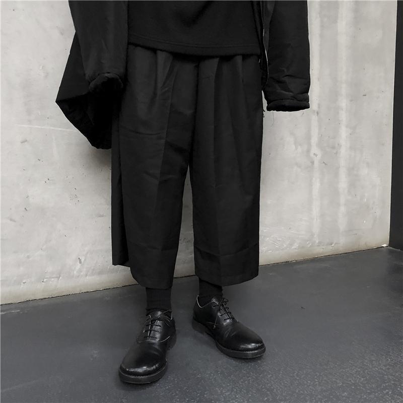 10-10新券原创小众 自制Yoji山本设计暗黑风   百搭宽松休闲垮裤阔腿裤