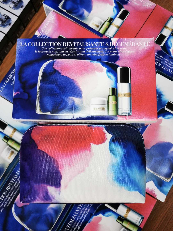 海蓝之谜护肤四件套装送化妆包焕肤水 、洁面乳、 面霜、 眼霜图片
