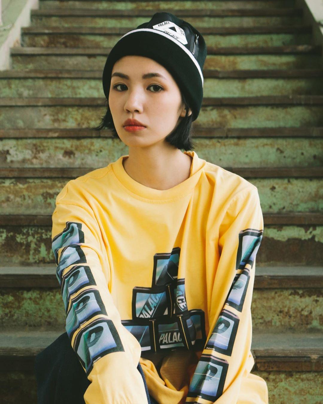 潮物Woo Palace Ptv longsleeve Tee 三角P字母電視機印花長袖T恤