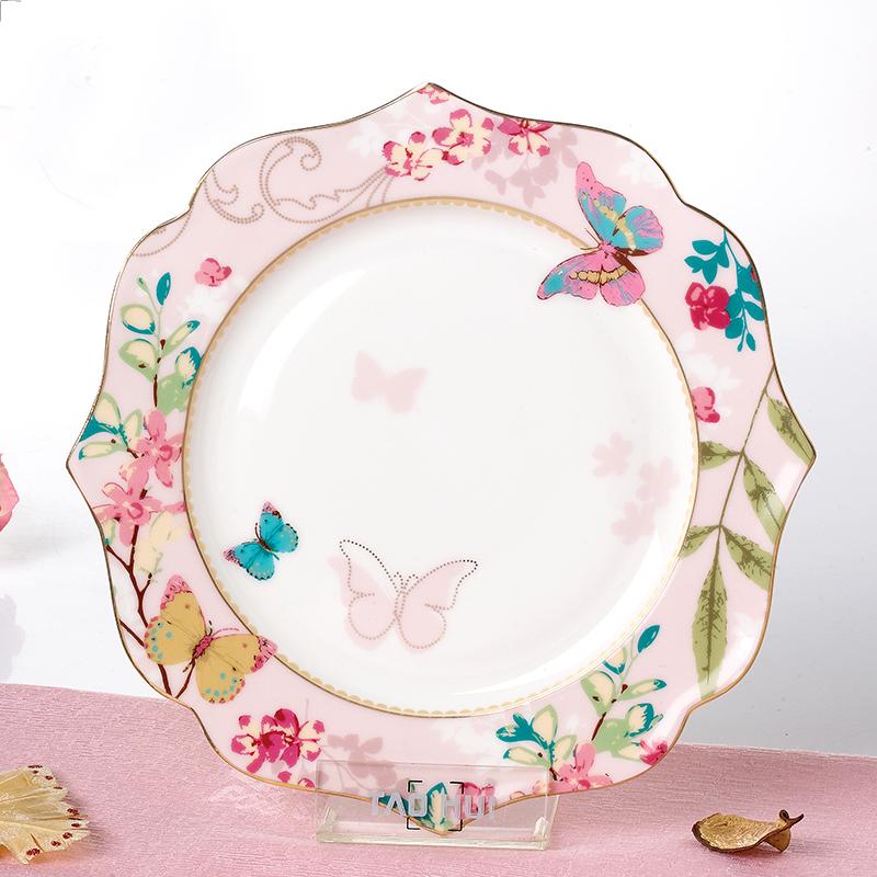 欧式陶瓷盘子甜品盘下午茶水果点心盘骨瓷干果盘创意鱼盘零食菜盘