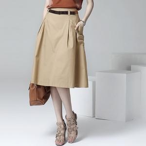 2021新款韩版春装中裙休闲大码a字中长裙女半身裙春夏季大摆裙子