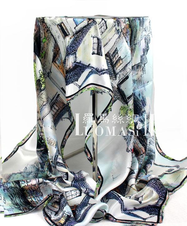 杭州丝绸礼品丝巾百搭长巾 桑蚕丝真丝围巾女式长方形丝巾多色