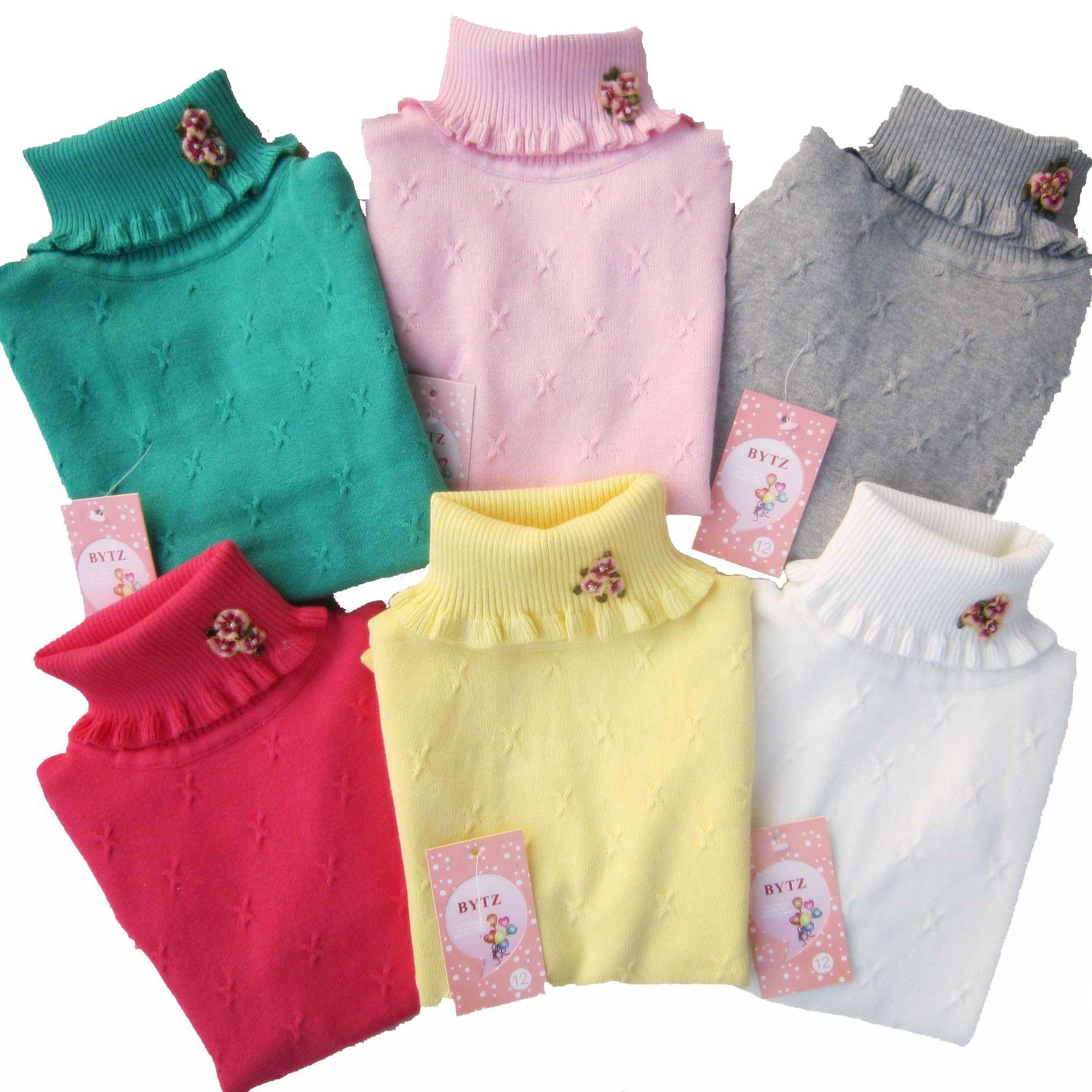 Ограничить пакет почты базы девочек свитера хлопка прикрывающую свитер свитер девушка из Джерси трикотажные упругой falbala