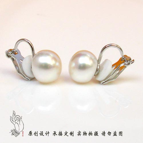 Natural fresh water pearl ear clip no ear hole earrings and studs add a pair of invisible flexible clip for lady