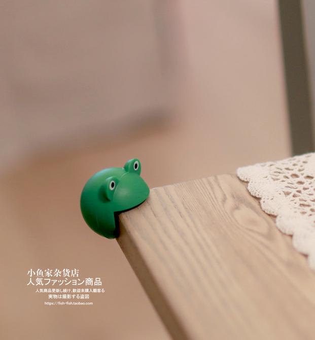 可爱小动物硅胶宝宝防撞角桌角垫2枚入 小鱼家