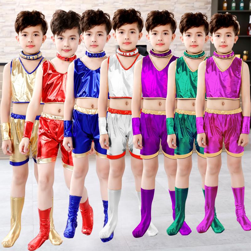 幼儿园少儿男女六一儿童节爵士街舞现代舞蹈表演演出服套装新款潮