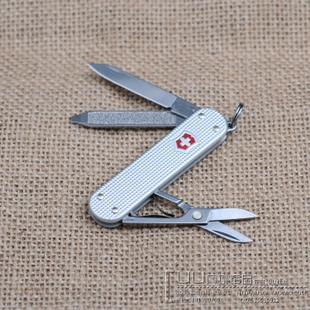 Genuine Victorinox Swiss Army Knife Aluminum Handle