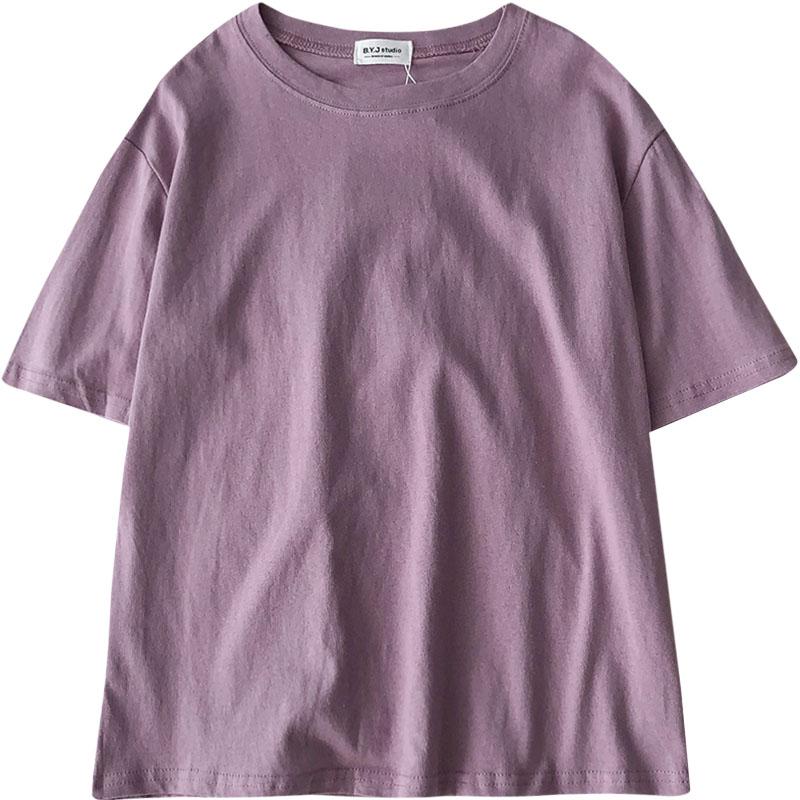 夏季2019新款女装韩版超火ins百搭宽松女学生圆领短袖打底T恤上衣