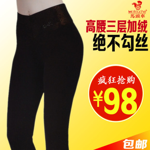 Horse cart 68693 female gold camel hair feeling thicker waist corset warm trousers were thin