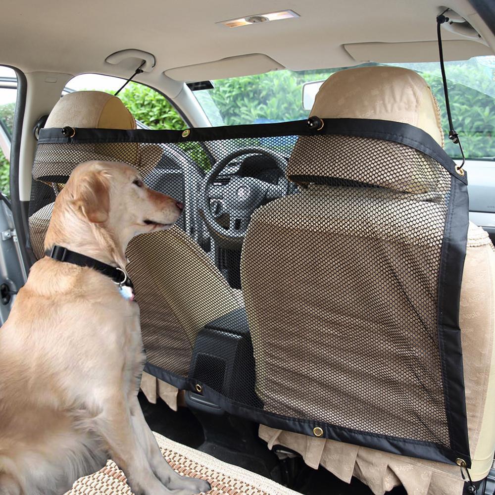 車載ペット用隔壁ネット自動車用品後列通用フェンス犬安全ネット