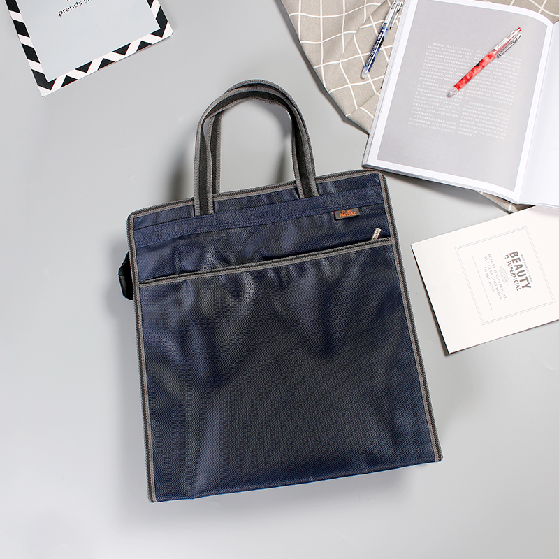 Gaoxuan portable document bag A4 zipper bag large capacity learning bag information file case men and women briefcase can be customized