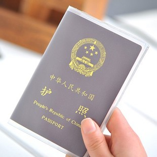 Korean Utility Passport scratch waterproof protector frosted transparent set of documents PVC card holder passport holder document sets