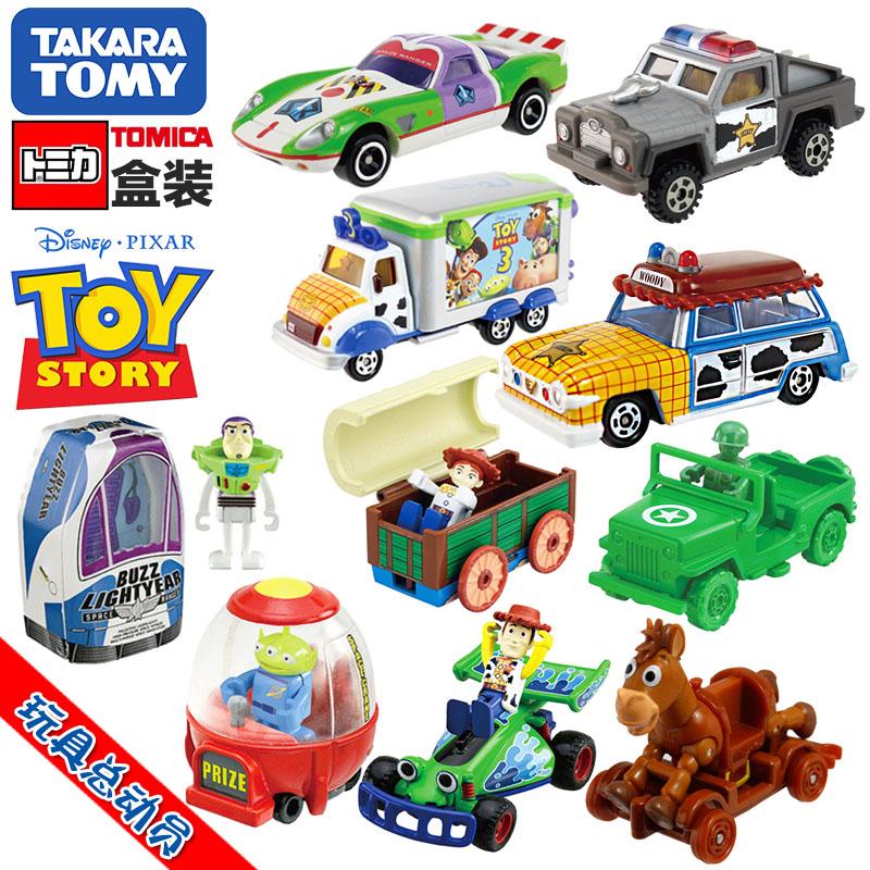 TOMY多美卡合金车模玩具总动员胡迪巴斯光年翠丝三眼仔卡通动漫