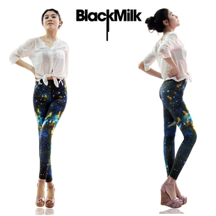 Fashion Woman Galaxy Leggings Space Printed Tights Galaxy秋