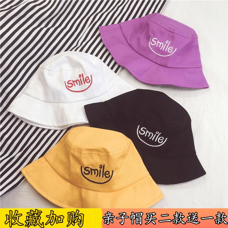 韩国儿童渔夫帽男童女童薄款遮阳帽夏防晒凉帽透气潮宝宝女帽子