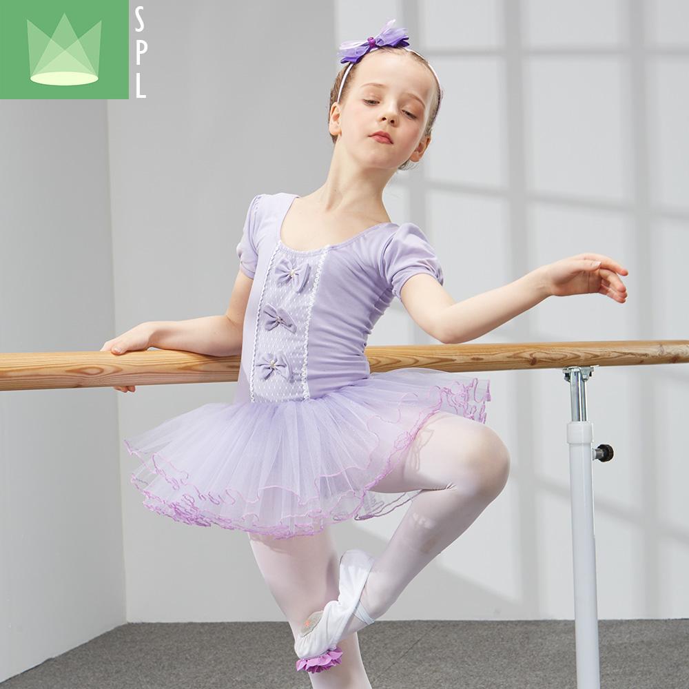 尚品琳儿童舞蹈服女童短袖芭蕾舞裙少儿练功服幼儿考级服演出服装