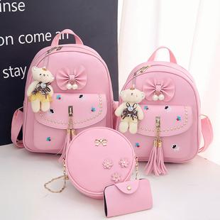 可爱儿童时尚双肩包女童小背包幼儿园书包小学生女孩公主旅游包潮
