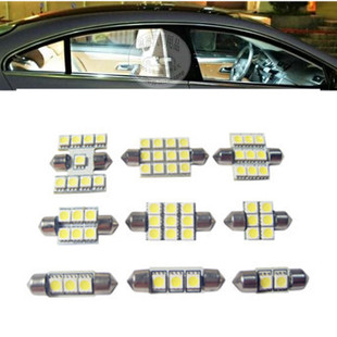 Roof LED Festoon lamp 31 36 39 41mm 5050 LED Festoon car LED reading lamp license plate light