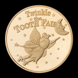 牙仙子金币儿童幸运纪念币换牙纪念礼物幸运宝藏金属玩具游戏钱币图片