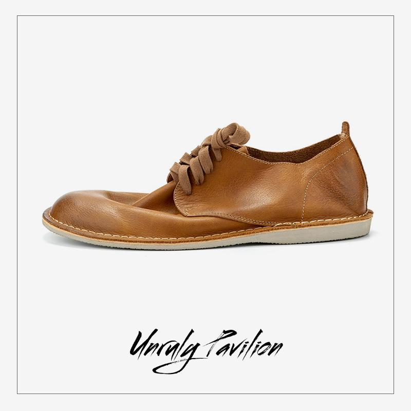 春夏季男士真皮沙漠鞋低帮复古英伦风休闲鞋系带潮流男鞋做旧欧美
